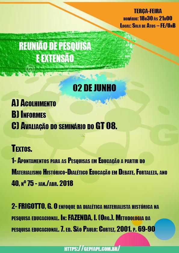 REUNIÃO - 02 DE JUNHO